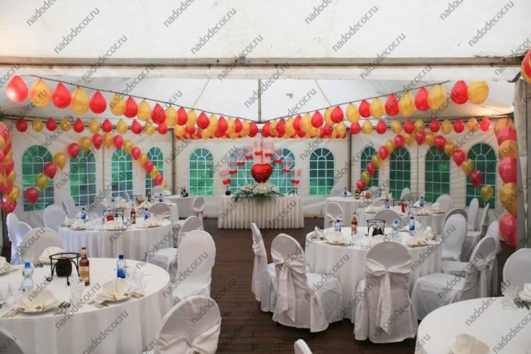 Чем украсить шатер на свадьбу своими руками 497