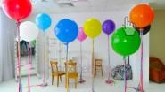 Большие свадебные шары с кисточками- хвостами. Размер: 1 метр