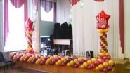 Оформление школьной сцены к 9 мая