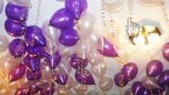 Гелиевые шары новогодние, с серпантином