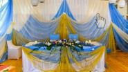 Свадебное украшение зала в морском стиле