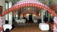 Шатер из шаров на свадьбу