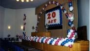 Надпись из воздушных шаров «20 лет»