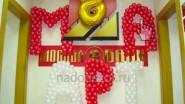 Буквы из шаров «8 марта»