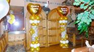 Столбик из шаров с именами, цена: 1580 р/шт. Высота - 2 м.