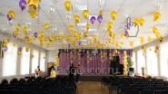 Оформление актового зала колледжа на выпускной