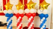 Столбик из шариков со звездой, цена: 1230руб/шт