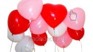 Гелиевые шарики-сердца под потолок на День Влюбленных: 96 р/шт