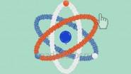Украшение шарами дня работника атомной промышленности (атомное ядро из шаров)