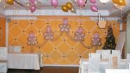 Свадебные люстры из шаров с тканью