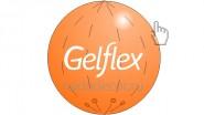 Оранжевый большой шар. Винил, латекс. Размеры: от 1 до 3 метров