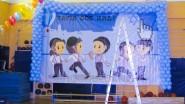 Печать баннера и украшение шарами в спортзале