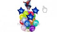 Букет из воздушных шаров «Человек-паук (Спайдермен)», высота-1.7м: 2190р/шт