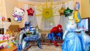 Украшение шарами Дня рождения ребенка фигурами из шаров