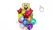 Букет из воздушных шаров «Губка боб», высота-1.7м: 2110р/шт