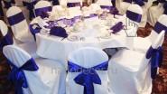 Чехлы и банты из ткани на стулья гостей
