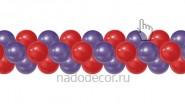 Двухцветная гирлянда из шаров