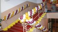 Оформление школьной лестницы шарами