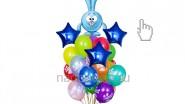 Букет из шариков «Смешарики: Крош», высота-1.7м: 2220р/шт