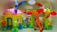 Украшение шарами детского праздника в саду