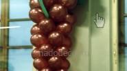 Виноградная гроздь из шаров
