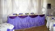 Оформление тканью ресторана к свадьбе