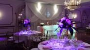 Украшение свадьбы тканью и светом