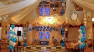 Оформление ресторана светящимися цифрами к юбилею фирмы