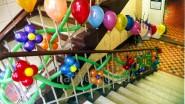 Украшение школьной лестницы