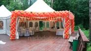 Свадебное оформление шарами шатра
