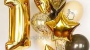 Букет из золотых шаров на 1 годик ребенка