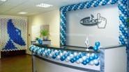 Оформление офиса шарами