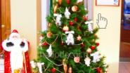 Новогоднее украшение офиса: ёлка и Дед Мороз