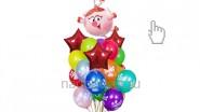 Букет из шариков «Смешарики: Нюша», высота-1.7м: 2220р/шт