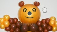 Медведь Мишка из шаров. В-125см, 1990 руб-.