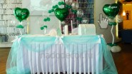 Украшение свадьбе в зеленой, мятной цветовой гамме