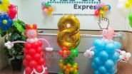 Оформление шарами офиса компании