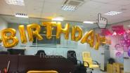 Большие шары- буквы «Happy Birthbay»
