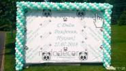 Баннер «С Днем рождения» и гирлянда из шаров