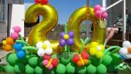 Украшение шарами дачи на 20 летие