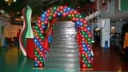 Новогоднее оформление боулинга шарами