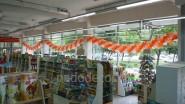Украшение зала к открытию книжного магазина
