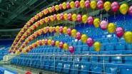 Украшение шарами спортивного праздника