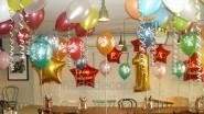 Украшение шарами кафе к детскому Дню рождения