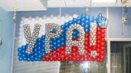 Украшение офиса: надпись из шаров