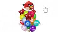 Букет из воздушных шаров «Злые птицы/Angry bird», высота-1.7м: 2390р/шт