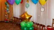Украшение шарами детсада к Новому году