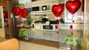 Украшение магазина ко Дню Святого Валентина