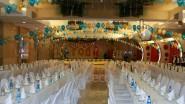 Новогоднее украшение зала шарами