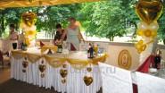 Украшение летней веранды на свадьбу